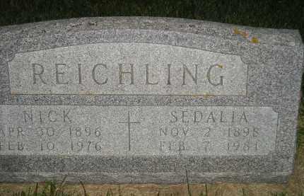 REICHLING, SEDALIA - Miner County, South Dakota | SEDALIA REICHLING - South Dakota Gravestone Photos