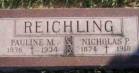 REICHLING, NICHOLAS P. - Miner County, South Dakota | NICHOLAS P. REICHLING - South Dakota Gravestone Photos