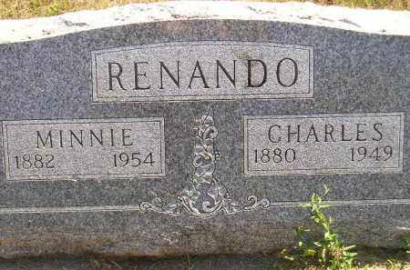 RENANDO, CHARLES - Miner County, South Dakota | CHARLES RENANDO - South Dakota Gravestone Photos