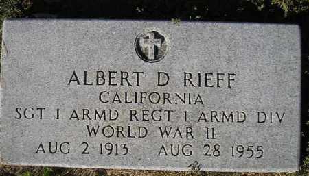 RIEFF, ALBERT D. (WW II) - Miner County, South Dakota | ALBERT D. (WW II) RIEFF - South Dakota Gravestone Photos