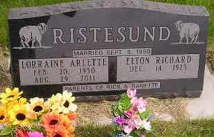 RISTESUND, LORRAINE ARLETTE - Miner County, South Dakota | LORRAINE ARLETTE RISTESUND - South Dakota Gravestone Photos