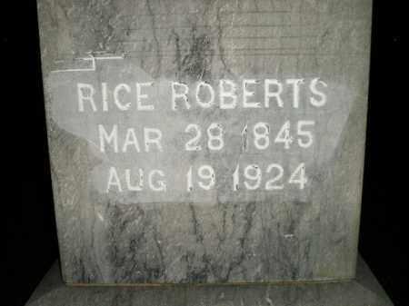 ROBERTS, RICE - Miner County, South Dakota | RICE ROBERTS - South Dakota Gravestone Photos