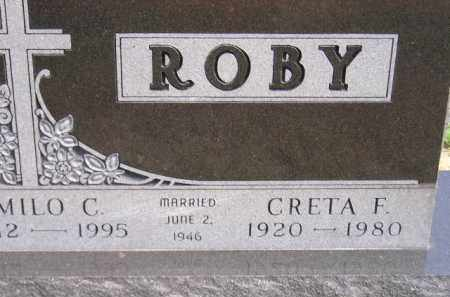 ROBY, CRETA F. - Miner County, South Dakota | CRETA F. ROBY - South Dakota Gravestone Photos