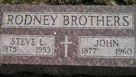 RODNEY, STEVE L. - Miner County, South Dakota | STEVE L. RODNEY - South Dakota Gravestone Photos