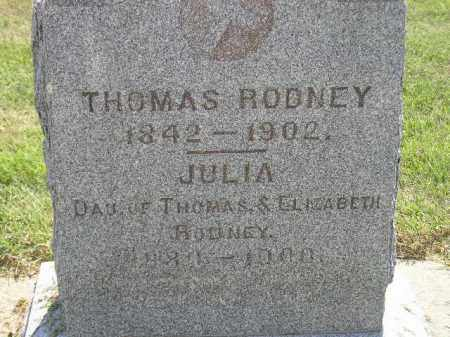RODNEY, JULIA - Miner County, South Dakota | JULIA RODNEY - South Dakota Gravestone Photos