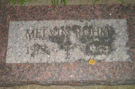 ROHM, MELVIN - Miner County, South Dakota | MELVIN ROHM - South Dakota Gravestone Photos