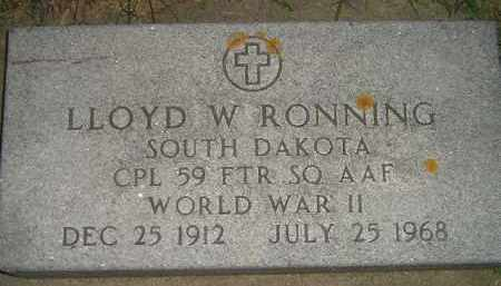 RONNING, LLOYD W. (WW II) - Miner County, South Dakota | LLOYD W. (WW II) RONNING - South Dakota Gravestone Photos