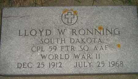 RONNING, LLOYD W. (WW II) - Miner County, South Dakota   LLOYD W. (WW II) RONNING - South Dakota Gravestone Photos