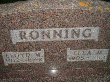 RONNING, ELLA M. - Miner County, South Dakota | ELLA M. RONNING - South Dakota Gravestone Photos