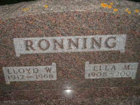RONNING, LLOYD W. - Miner County, South Dakota   LLOYD W. RONNING - South Dakota Gravestone Photos