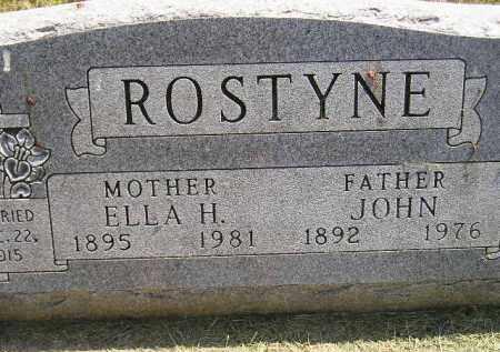 ROSTYNE, ELLA H. - Miner County, South Dakota | ELLA H. ROSTYNE - South Dakota Gravestone Photos