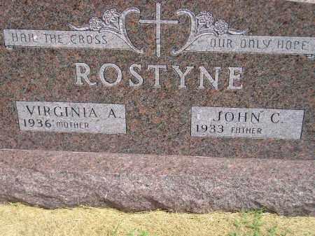 ROSTYNE, JOHN C. - Miner County, South Dakota | JOHN C. ROSTYNE - South Dakota Gravestone Photos