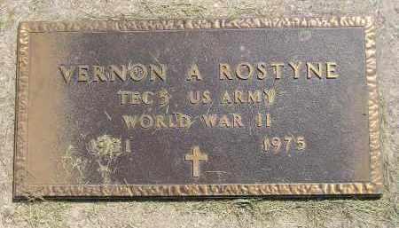 ROSTYNE, VERNON A. (WW II) - Miner County, South Dakota | VERNON A. (WW II) ROSTYNE - South Dakota Gravestone Photos