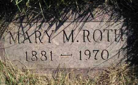 ROTH, MARY M. - Miner County, South Dakota | MARY M. ROTH - South Dakota Gravestone Photos