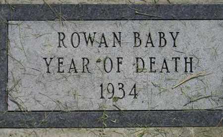 ROWAN, BABY - Miner County, South Dakota | BABY ROWAN - South Dakota Gravestone Photos