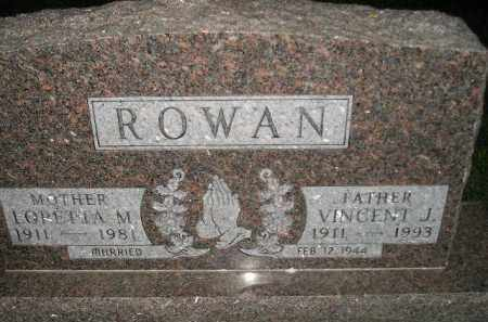 ROWAN, LORETTA M. - Miner County, South Dakota | LORETTA M. ROWAN - South Dakota Gravestone Photos