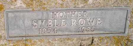 ROWE, SYBLE - Miner County, South Dakota | SYBLE ROWE - South Dakota Gravestone Photos