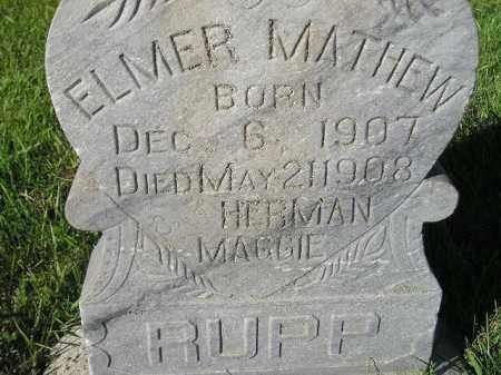 RUPP, ELMER MATHEW - Miner County, South Dakota | ELMER MATHEW RUPP - South Dakota Gravestone Photos
