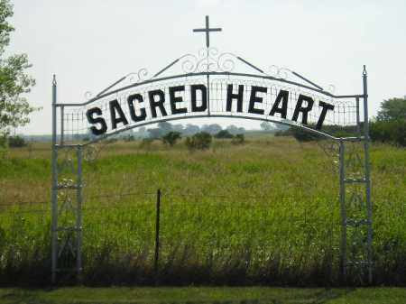 *SACRED HEART, SIGN & GPS - Miner County, South Dakota | SIGN & GPS *SACRED HEART - South Dakota Gravestone Photos