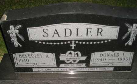 SADLER, DONALD L. - Miner County, South Dakota | DONALD L. SADLER - South Dakota Gravestone Photos