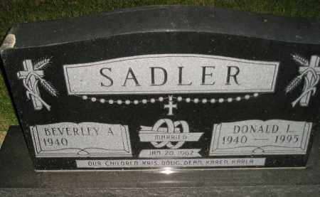 SADLER, DONALD L. - Miner County, South Dakota | DONALD L. SADLER - South Dakota Gravestone Photos