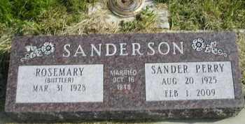 BIITLER SANDERSON, ROSEMARY - Miner County, South Dakota | ROSEMARY BIITLER SANDERSON - South Dakota Gravestone Photos