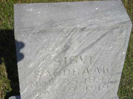 SANDRAAK, SIGVI - Miner County, South Dakota   SIGVI SANDRAAK - South Dakota Gravestone Photos