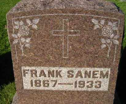 SANEM, FRANK - Miner County, South Dakota | FRANK SANEM - South Dakota Gravestone Photos