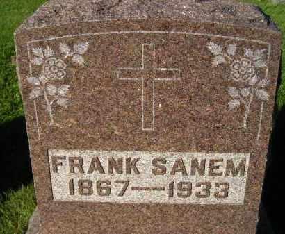 SANEM, FRANK - Miner County, South Dakota   FRANK SANEM - South Dakota Gravestone Photos