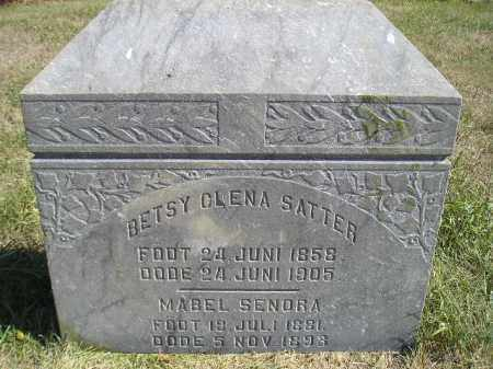 SATTER, BETSY OLENA - Miner County, South Dakota | BETSY OLENA SATTER - South Dakota Gravestone Photos