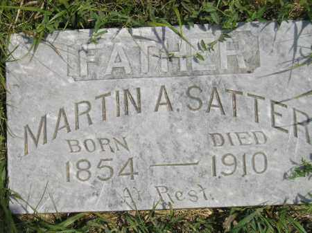 SATTER, MARTIN A. - Miner County, South Dakota | MARTIN A. SATTER - South Dakota Gravestone Photos
