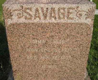 SAVAGE, EMMA - Miner County, South Dakota | EMMA SAVAGE - South Dakota Gravestone Photos