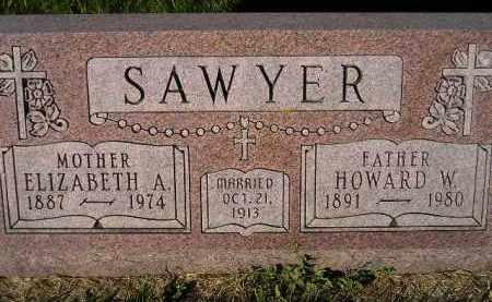 SAWYER, HOWARD W. - Miner County, South Dakota | HOWARD W. SAWYER - South Dakota Gravestone Photos