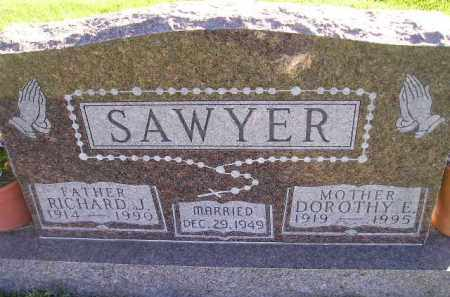 SAWYER, RICHARD J. - Miner County, South Dakota | RICHARD J. SAWYER - South Dakota Gravestone Photos