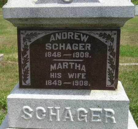 SCHAGER, MARTHA - Miner County, South Dakota | MARTHA SCHAGER - South Dakota Gravestone Photos