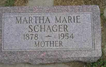 SCHAGER, MARTHA MARIE - Miner County, South Dakota   MARTHA MARIE SCHAGER - South Dakota Gravestone Photos