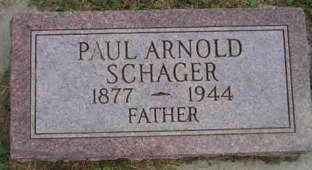 SCHAGER, PAUL ARNOLD - Miner County, South Dakota   PAUL ARNOLD SCHAGER - South Dakota Gravestone Photos