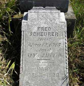 SCHEURER, FRED - Miner County, South Dakota | FRED SCHEURER - South Dakota Gravestone Photos