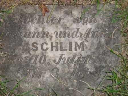 SCHLIM, DAUGHTER - Miner County, South Dakota | DAUGHTER SCHLIM - South Dakota Gravestone Photos