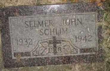 SCHLIM, SELMER JOHN - Miner County, South Dakota | SELMER JOHN SCHLIM - South Dakota Gravestone Photos