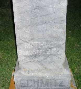 SCHMITZ, MATHIAS - Miner County, South Dakota | MATHIAS SCHMITZ - South Dakota Gravestone Photos