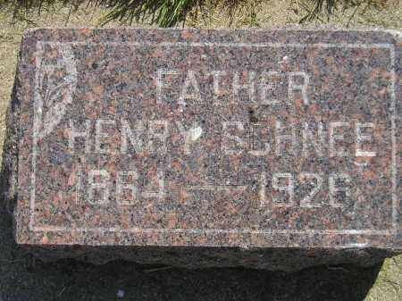 SCHNEE, HENRY - Miner County, South Dakota | HENRY SCHNEE - South Dakota Gravestone Photos