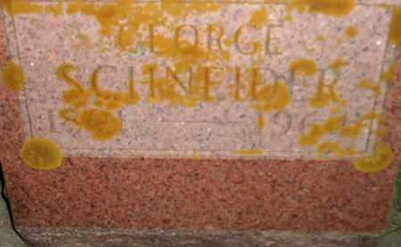 SCHNEIDER, GEORGE - Miner County, South Dakota   GEORGE SCHNEIDER - South Dakota Gravestone Photos