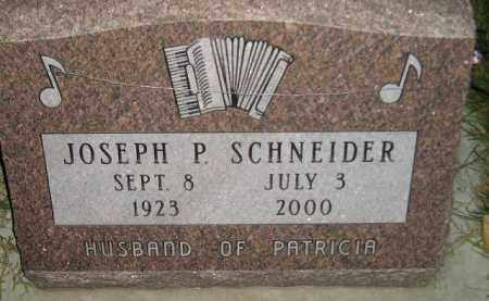 SCHNEIDER, JOSEPH P. - Miner County, South Dakota | JOSEPH P. SCHNEIDER - South Dakota Gravestone Photos