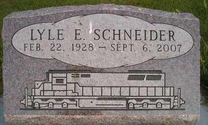 SCHNEIDER, LYLE E - Miner County, South Dakota | LYLE E SCHNEIDER - South Dakota Gravestone Photos