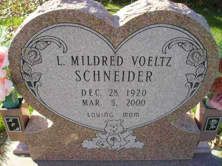 VOELTZ SCHNEIDER, L. MILDRED - Miner County, South Dakota | L. MILDRED VOELTZ SCHNEIDER - South Dakota Gravestone Photos