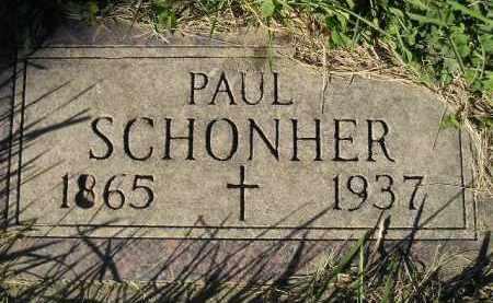 SCHONHER, PAUL - Miner County, South Dakota   PAUL SCHONHER - South Dakota Gravestone Photos
