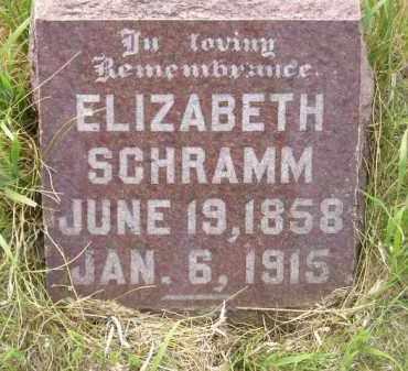 SCHRAMM, ELIZABETH - Miner County, South Dakota | ELIZABETH SCHRAMM - South Dakota Gravestone Photos