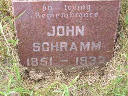 SCHRAMM, JOHN - Miner County, South Dakota | JOHN SCHRAMM - South Dakota Gravestone Photos