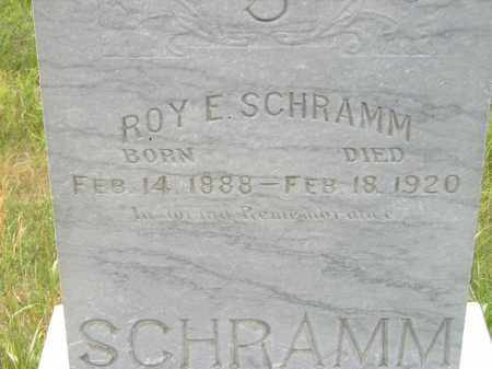 SCHRAMM, ROY E. - Miner County, South Dakota | ROY E. SCHRAMM - South Dakota Gravestone Photos